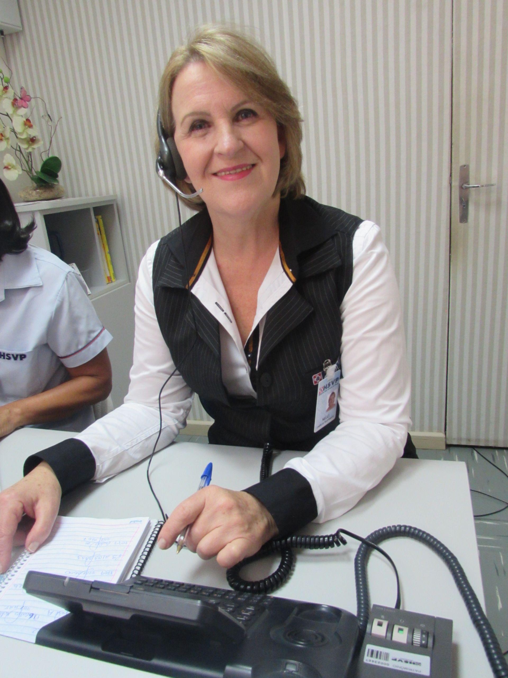 Nelci Klein chefe das telefonistas do Hospital São Vicente de Paulo